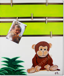 deco jungle bapteme tableau déco pêle mêle thème jungle didou le petit singe enfant
