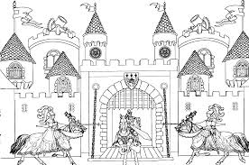 castle coloring pages with knights for adults coloringstar