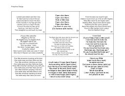 Seeking Opening Song Printable Preschool Songs Preschool Songs Pdf Preschool Songs