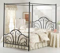queen size metal canopy bed frame andrea outloud