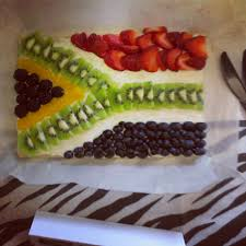Flag Fruit Cake So Totally Creative A Lion King Skit South African Fruit Pizza