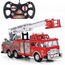 amazon com prextex 13 u0027 u0027 rescue r c fire engine truck remote