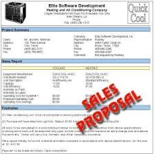 Air Conditioning Installation Estimate by Elite Software Quote Sales Proposals