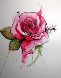 40 best rose tattoos flower dragonfly watercolor images on