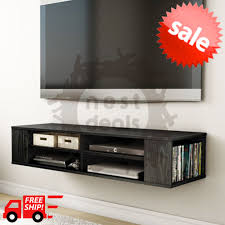 wall mount media center shelf floating entertainment console tv