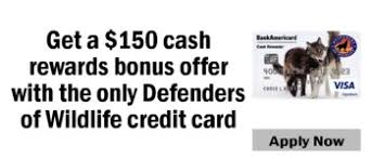 Bank Of America Change Card Design Exclusive Offerings From Bank Of America For Defenders Of Wildlife