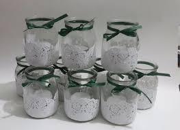imagenes suvenir para casamiento con frascos de mermelada souvenirs de 15 años con frascos de vidrio decorados con blondas
