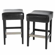 Overstock Leather Chair Furniture Cozy Black Overstock Bar Stools With Stainless Steel