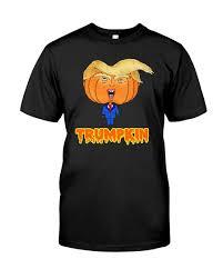 funny trump halloween pumpkin t shirt
