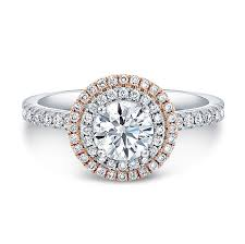 gold halo engagement rings 18k white and gold white halo