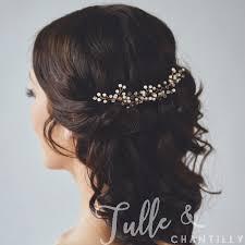 bridal hair combs rosegold and pearls wedding bridal hair combs twahp040