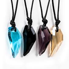 turquoise crystal pendant necklace images Wolf tooth crystal pendant chain adjustable black cord women 39 s jpg