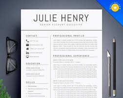 pretty resume templates resume template etsy