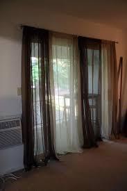 3 coordinating panelspatio door french door curtains ideas for