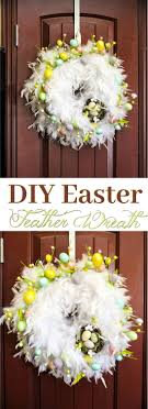 how to make easter wreaths stunning chic diy feather easter wreath in only 30 minutes