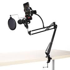 professional adjustable desk recording microphone phone holder