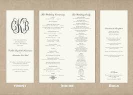Samples Of Wedding Programs Tall Skinny Wedding Program Gilm Press Diy Wedding U2022 41778