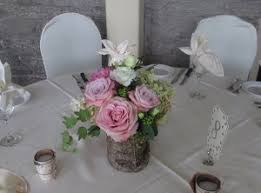 Birch Bark Vases Wedding Reception Floral Accents