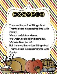the important things about thanksgiving free class book tpt