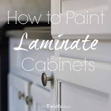 best laminate kitchen cupboard paint how to paint laminate cabinets without sanding the palette