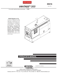 lincoln electric im976 vantage 300 user manual 54 pages