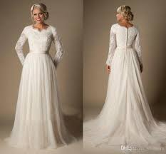 sleeve modest wedding dresses discount vintage chantilly lace wedding dresses 2016 fall winter