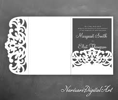 wedding invitation pocket envelopes tri fold pocket envelope 5x7 wedding invitation svg template lace