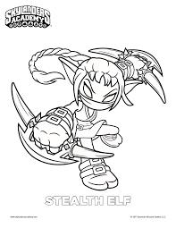 free skylanders stealth elf coloring page mama likes this