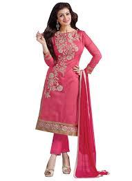 women u0027s silk dress material smfdg5307 pink free size