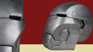 making the metal iron man helmet mk 42 youtube