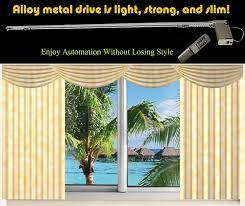 Designer Metals Decorative Traverse Rods by Amazon Com Metechs Remote Control Electric Window Treatment