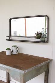 bathroom gold round plastic mirrors with shelves cottage wall