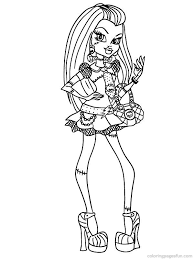 monster frankie coloring pages getcoloringpages