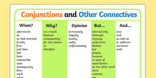 word conjunctions primary resources grammar word page 5