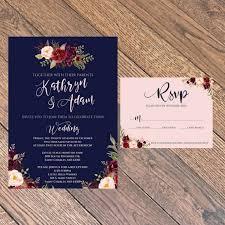 wedding invitations navy navy wedding invitation bloomcreativo