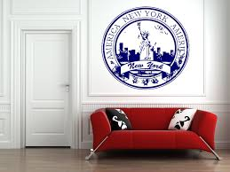 wall decals stickers home decor home furniture diy wall vinyl sticker room decals mural design new york city stamp usa ny bo1301