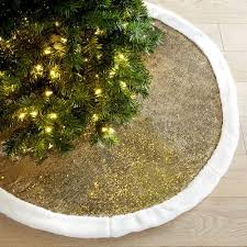 gold tree skirt gold white reversible sequined mermaid tree skirt pier 1 imports