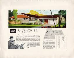 1950s ranch house plans vintage 1950s ad thyer homes starlighter house plans mid century