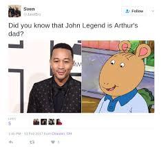 John Legend Meme - 10 legendary john legend memes that prove the singer is arthur