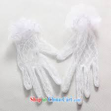 not only sale pure white lace gloves transparent web yarn long