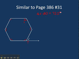 Interior Angle Sum Of A Decagon Page 386 31 Finding The Exterior Angle Of A Regular Hexagon Youtube