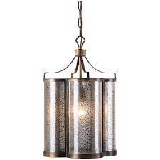 Uttermost Pendant Lights by Uttermost Croydon 1 Light Mercury Glass Pendant Mercury Glass