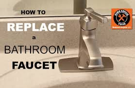 how to replace a bathroom sink faucet how to replace a bathroom faucet home repair tutor
