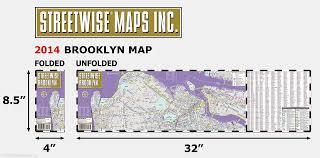 Williamsburg Brooklyn Map Streetwise Brooklyn Map Laminated City Center Street Map Of