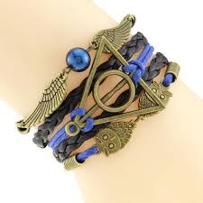 infinity braid bracelet images Multilayer braided bracelets vintage owl harry potter wings jpg