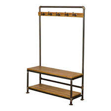 new foundry metal bench coat and shoe racks storage unit