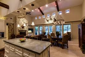 Open Kitchen Floor Plans With Islands by Open Kitchen Floor Plan With Concrete Island Counter Top Custom
