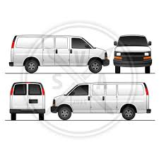 chev express cargo van vector art stock vector art