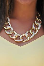 chunky statement chain necklace images How to style golden jewelry jpg