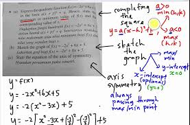 add math quadratic function sketch the graph youtube